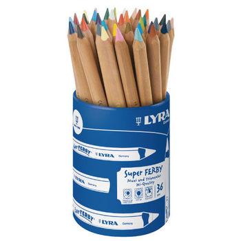 【德國 LYRA 彩繪系列】三角原木色鉛筆(17.5cm)36支 3713360