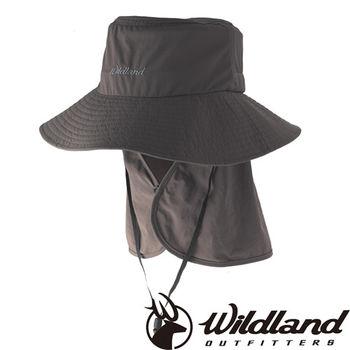【荒野wildland】中性抗UV可脫式遮陽帽 中灰色