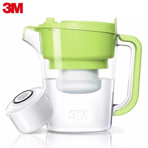 3M 即淨長效濾水壺WP3000-1壺+1濾心 蘋果綠