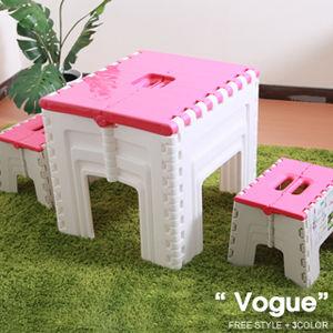 【vogue】TB12巧收折疊桌椅組(3色)