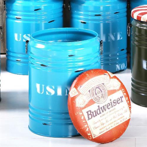 【H&D】酒藍水桶收納椅凳