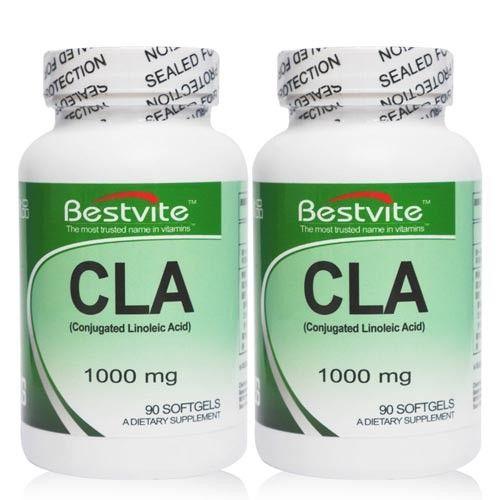 【美國BestVite】必賜力紅花籽油富含CLA膠囊2瓶組 (90顆/瓶)