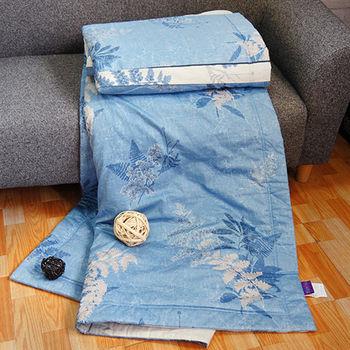 【FITNESS】精梳純棉涼被- 夏之葉語(藍)
