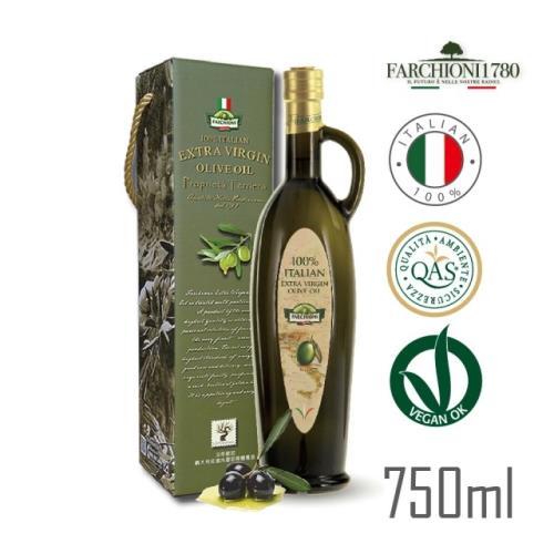 原裝進口【法奇歐尼】義大利莊園冷壓初榨橄欖油-手工提把瓶750ml