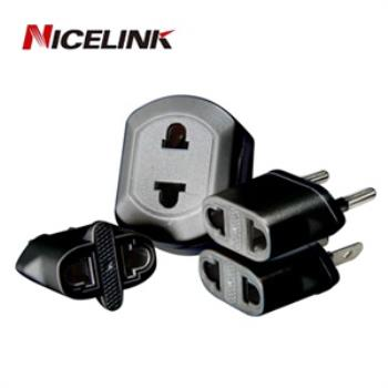Nicelink 旅行萬用轉接頭-黑色(全球通用組合包) UA-401A(B)
