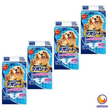 【Unicharm】日本消臭大師 超吸收狗尿墊 M72片 X 4包