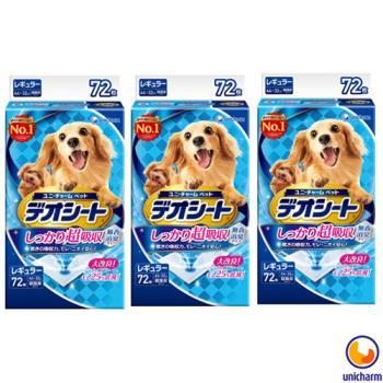 【Unicharm】日本消臭大師 超吸收狗尿墊 M72片 X 3包