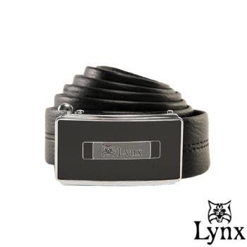 Lynx - 山貓城市系列陽光款自動扣真皮皮帶