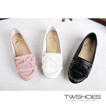 【TW Shoes】MIT蝴蝶結流蘇舒適休閒鞋(K120AF6005)