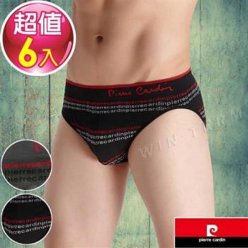 Pierre Cardin皮爾卡登  織紋立體彈性三角褲(6件組)