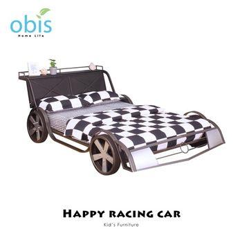 【obis】Kids Neverland 兒童雙人床架-閃電賽車
