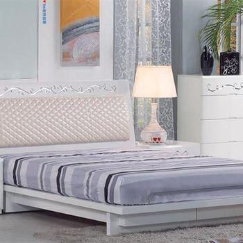 【H&D】倫斯5尺白色雙人床架