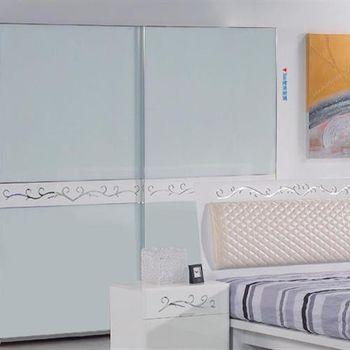 【H&D】賈桂琳7X7白色玻烤推門衣櫃