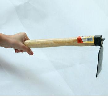 [協貿國際]園藝工具 農具 木柄小鋤頭 全鋼小鋤頭 挖土鋤草工具全長38CM 單一個
