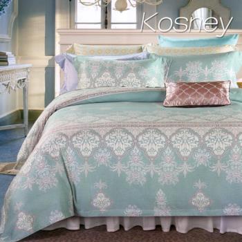 【KOSNEY】賽納風情  特大100%天絲TENCEL四件式兩用被床包組