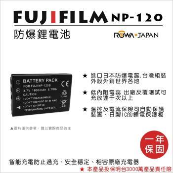 ROWA 樂華 For FUJI 富士 NP-120 NP120 電池