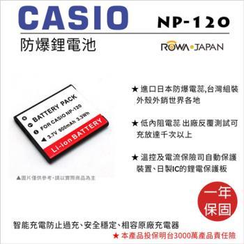 ROWA 樂華 For CASIO 卡西歐 NP-120 NP120 電池