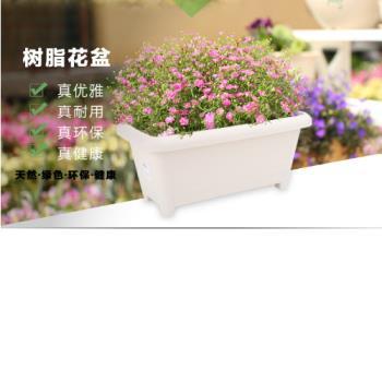 [協貿國際]仿木花盆長方形樹脂花盆長條盆陽台種菜盆塑料花盆單一個