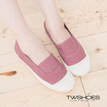 【TOMO】素面拼接奶油頭平底懶人鞋(K164A2584)