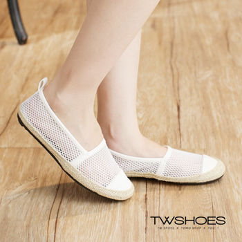 【TW Shoes】草編拼接鏤空懶人鞋(K120A2638)