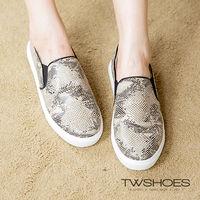 ~TOMO~~韓國直送~蟒蛇紋皮質平底懶人鞋 ^#40 K130A2292 ^#41