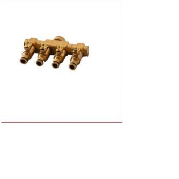 [協貿國際]全銅接頭 水龍頭改造件可控開關 管材連接件 帶閥門 4通 水管接頭