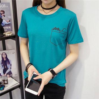 【菟絲花】大尺碼-純棉短袖t恤韓版修身夏季女裝-現貨+預購