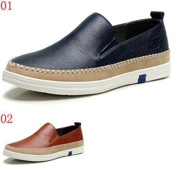 (預購)【CARTELO卡帝樂鱷魚】86103AA新款男士休閒皮鞋真皮頭層牛皮樂福鞋平底駕車鞋子(JHS杰恆社)