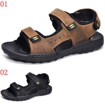 (預購)【CARTELO卡帝樂鱷魚】CX3030男鞋男士運動涼鞋透氣戶外沙灘鞋真皮休閒涼拖鞋男(JHS杰恆社)