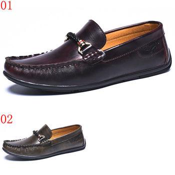 (預購)【CARTELO卡帝樂鱷魚】20103AA男鞋真皮休閒皮鞋英倫潮鞋豆豆鞋透氣駕車鞋男單鞋(JHS杰恆社)