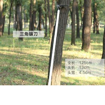 [協貿國際]三角鐮刀長杆梯形鋤頭空心鋤鋁合金杆不鏽鋼鋤頭