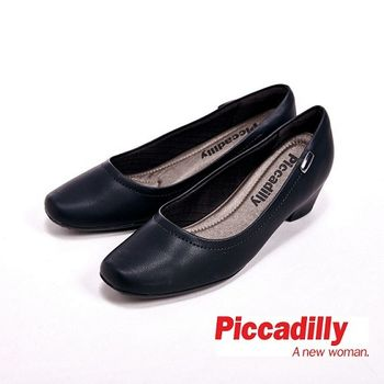 Piccadilly 中跟單鞋蛇紋OL高跟鞋 女鞋 黑(另有杏)