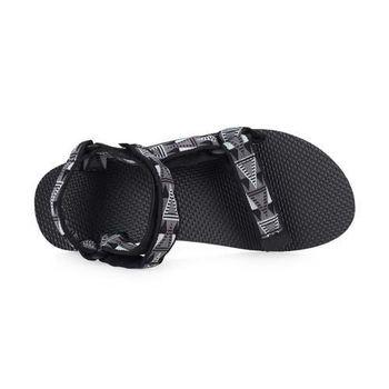 【TEVA】男織帶涼鞋 - 拖鞋 海灘 戲水 游泳 黑淺灰