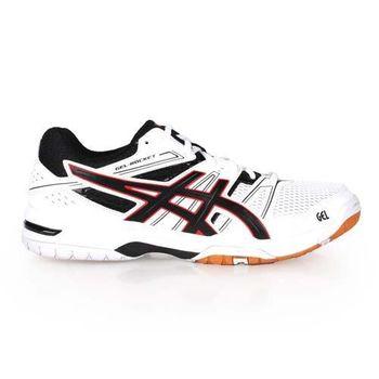【ASICS】GEL-ROCKET 7 男排球鞋 - 羽球鞋 運動 亞瑟士 白黑紅