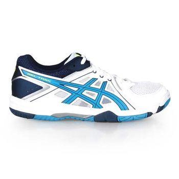 【ASICS】GEL-TASK 男排球鞋-羽球鞋 運動 戶外 亞瑟士 白黃湖水藍