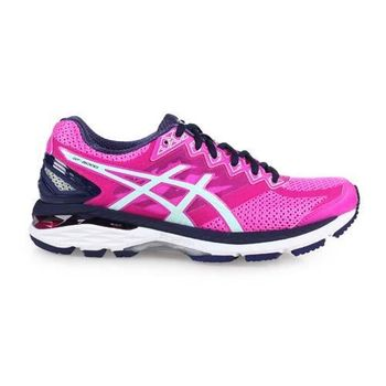 【ASICS】GT-2000 4 女慢跑鞋- 路跑 健身 訓練 亞瑟士 螢光粉丈青