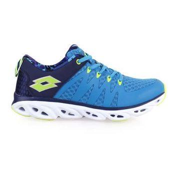 【LOTTO】VENTI男風動輕量跑鞋-路跑 慢跑 健身 藍綠