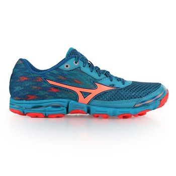 【MIZUNO】WAVE HAYATE 2 女慢跑鞋- 路跑 美津濃 藍綠橘
