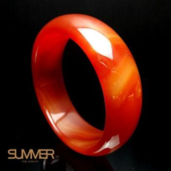 【SUMMER珠寶】-冰透紅玉髓手鐲