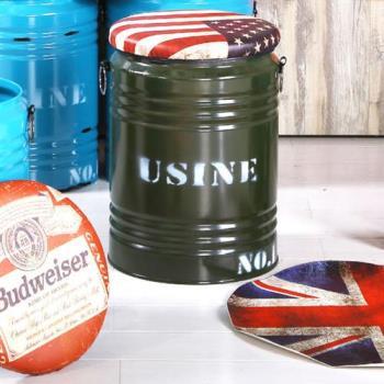【H&D】美國綠水桶收納椅凳