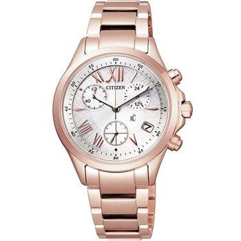 CITIZEN XC 光動能 羅馬情人花園女性時尚優質腕錶-玫瑰金-FB1403-53A