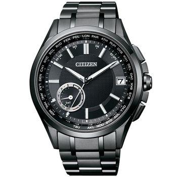 CITIZEN GPS衛星對時首選之最光動能優質腕錶-全黑-CC3015-57E