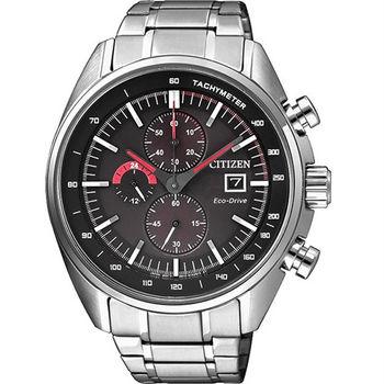 CITIZEN 光動能競速元氣小子計時優質運動腕錶-黑-CA0590-58E