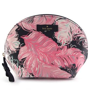 Kate Spade 彩繪羽毛貝殼化妝包