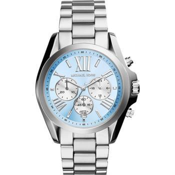 Michael Kors 羅馬假期三眼計時腕錶-藍x銀 MK6099