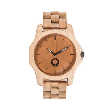 Plantwear 歐洲手工製實木手錶-Sierra series--象牙白-楓木(48mm)