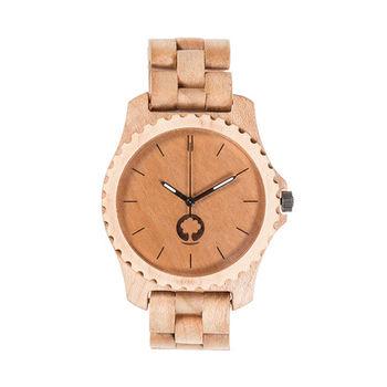 Plantwear 歐洲手工製實木手錶-Urban series-象牙白-楓木(47mm)