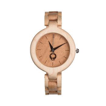 Plantwear 歐洲手工製實木手錶-Glamour series-象牙白-楓木(35mm)