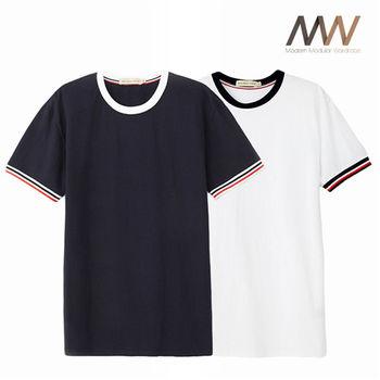 《摩搭衣櫥 MMWardrobe》撞色造型圓領T-shirts