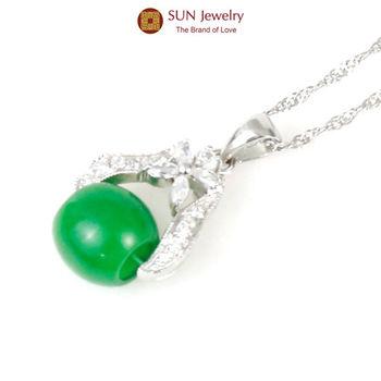 SUN Jewelry時來運轉手工精鑲緬甸玉翡翠項鍊